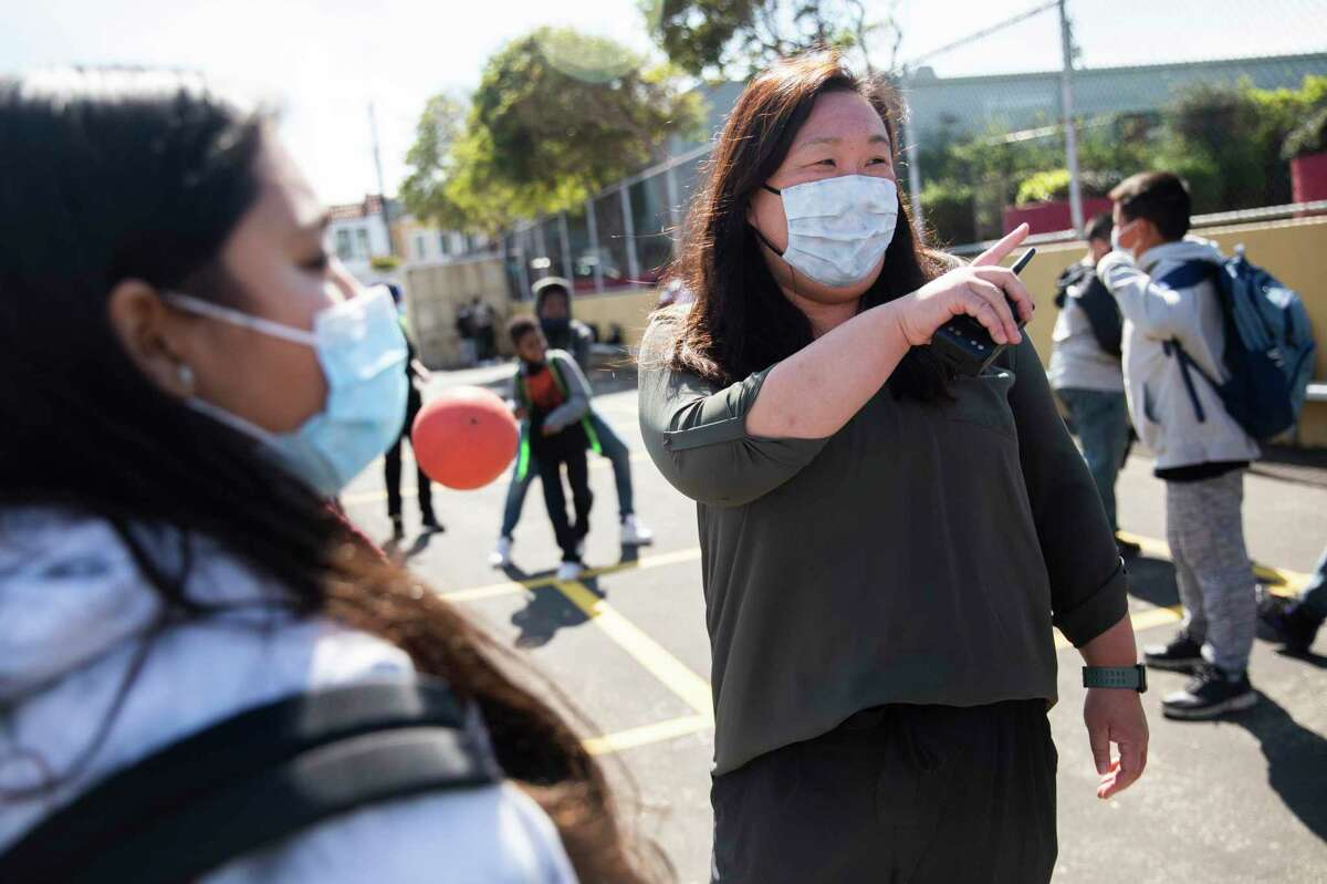 Leslie Hu is a community school coordinator and counselor at Dr. Martin Luther King Jr. Academic Middle School in San Francisco. She says difficulties with kids are exacerbated by a lack of staff to help them.