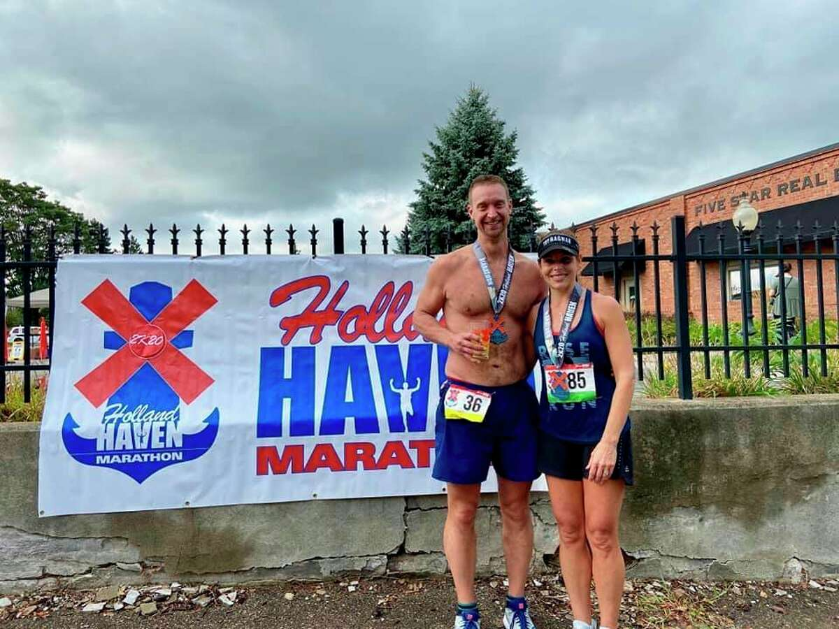 Matthew Lewis and his wife, Carrie, each qualified to run in the 125th Boston Marathon. It was a lifetime dream of the couple to run in the world famous race. (Courtesy Photo)