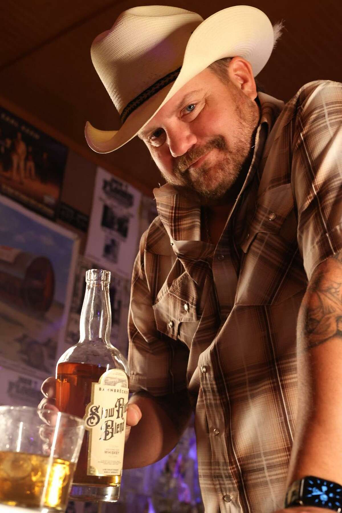 Country music star Randy Rogers is part of the team that released Bahnbrëcker Slow River Blend whiskey.