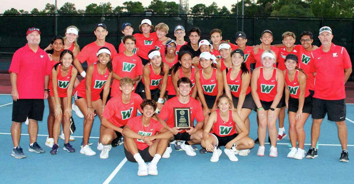 The Woodlands team tennis won the District 13-6A title on Tuesday, Oct. 5, 2021, after defeating College Park