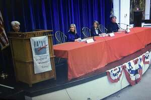 Those running for first selectman in town were among the offices included in the Darien League of Women Voters' candidates' night on Oct. 5, 2021.
