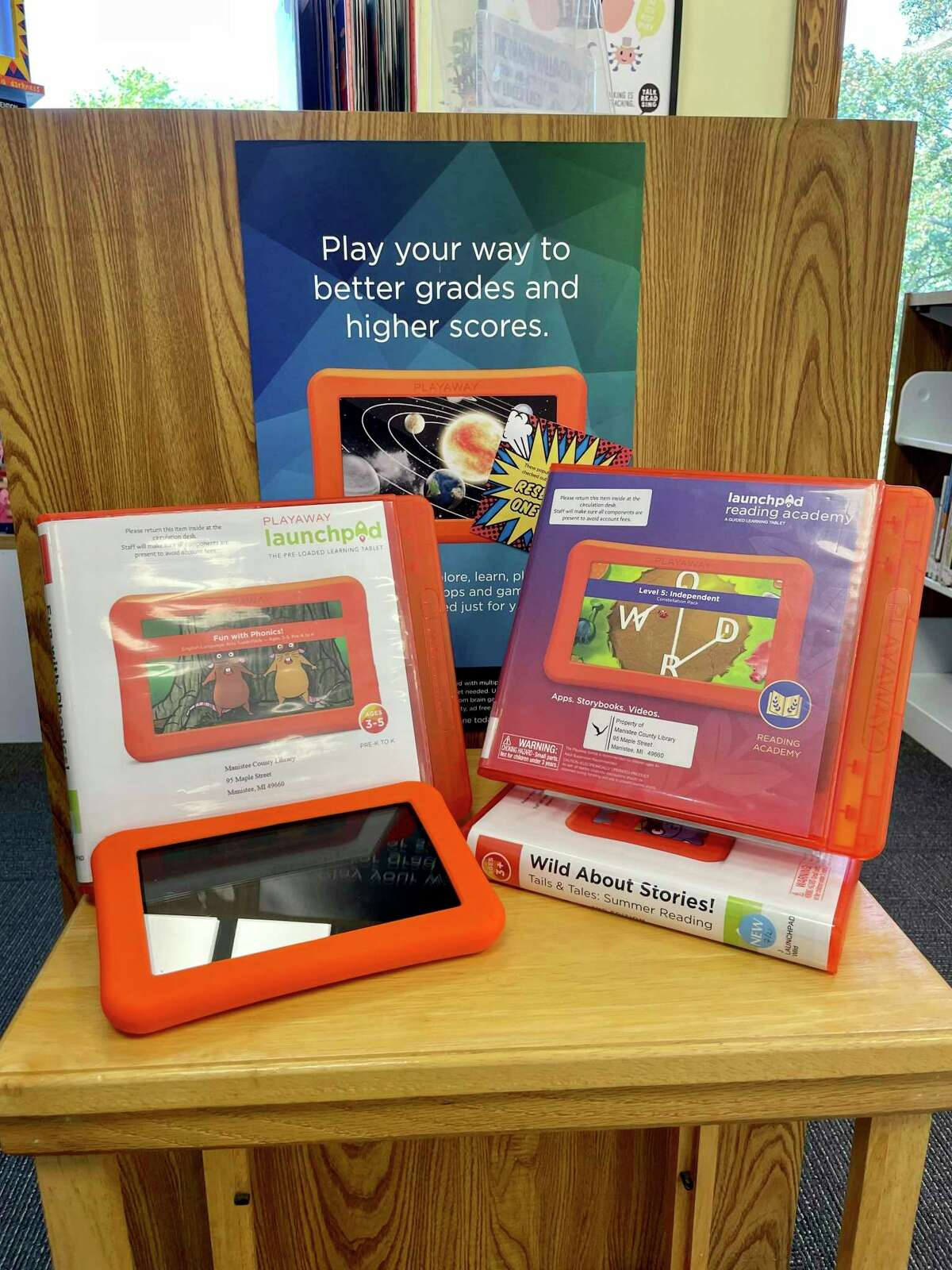 Launchpads are pre-loaded electronic devices that patrons can check out. These tablets merge education and entertainment in fun, fast paced games.These devices allow the patron to learn and practice skills in language and math. Our current holdings are geared toward younger children.(Courtesy photo)