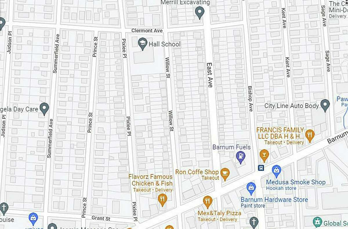 Officials reported a water main break on Prince Street, between Grant Street and Clermont Avenue, in Bridgeport, Conn., on Wednesday, Oct. 6, 2021.