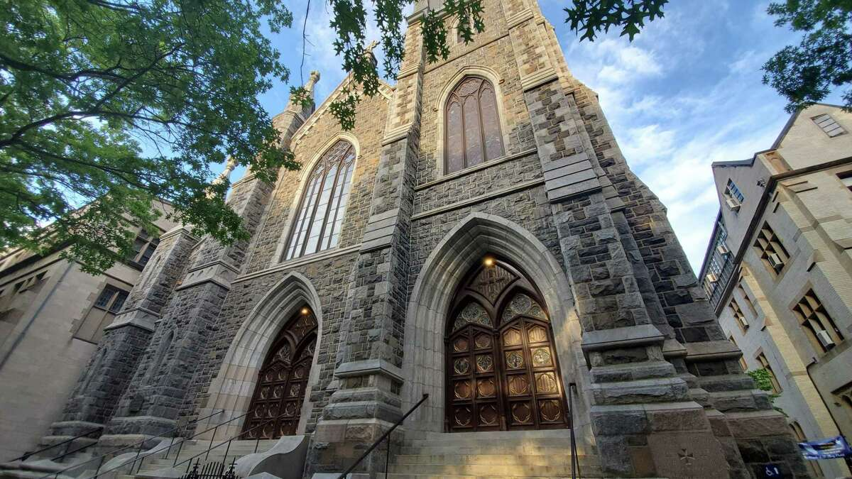 St. Mary Catholic Church on Hillhouse Avenue in New Haven.