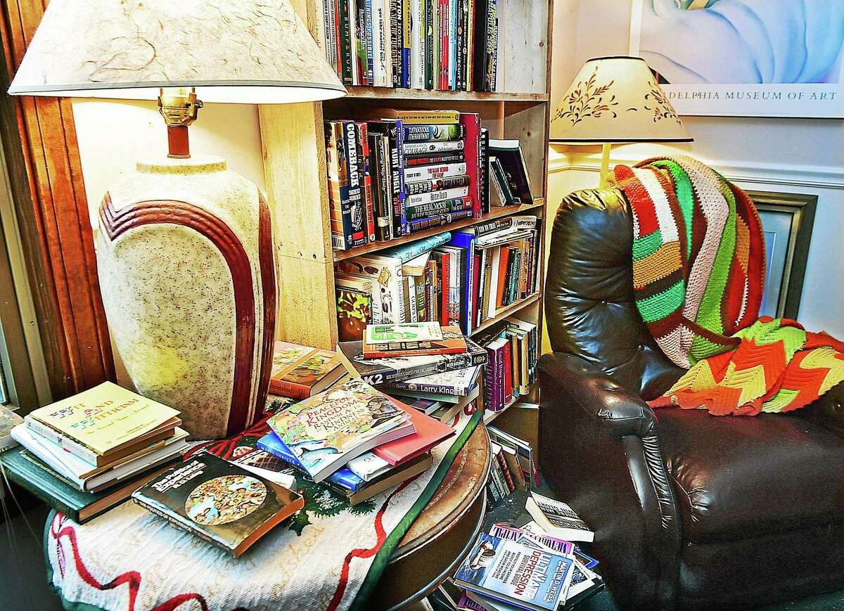 A reading nook at Bennett's Books at 171 Main St. in Deep River.