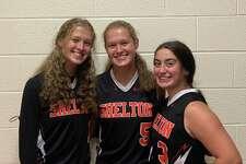 Amanda Kiman, Rachel Kiman and Jackie Jenco captain Shelton's field hockey team.