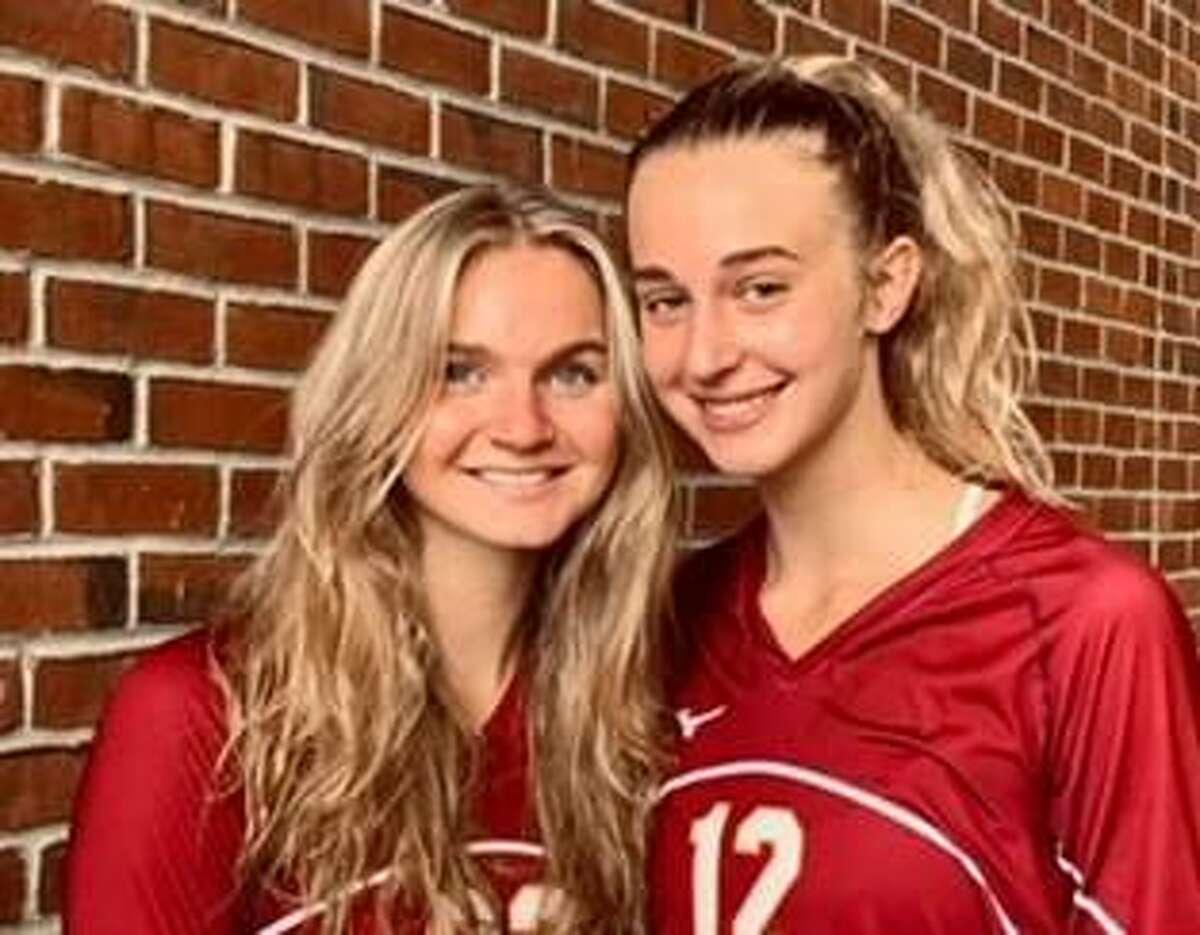 Lily Mattison and Ava Tuccio captain St. Joseph's girls' volleyball team.