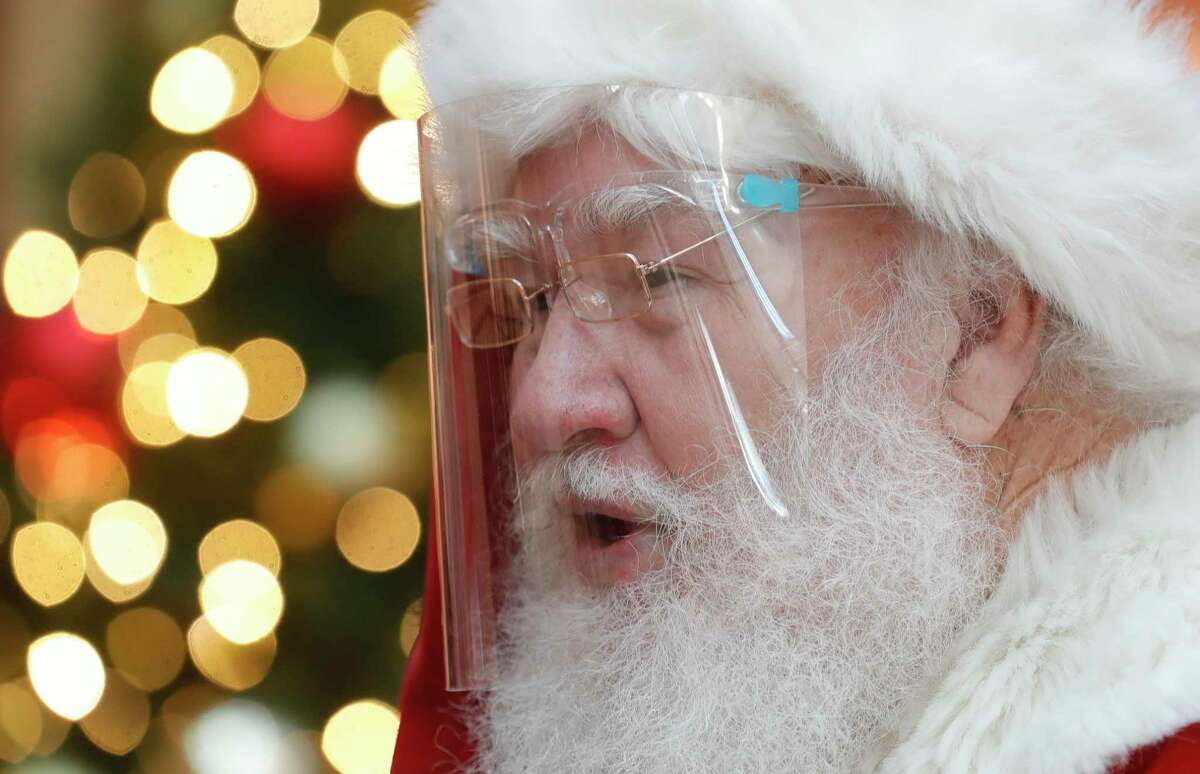 In addition to a face shield and mask for Santa and his workers, visitors will be able to tell him what they want for Christmas and wave using six-foot social distancing at The Woodlands Mall.