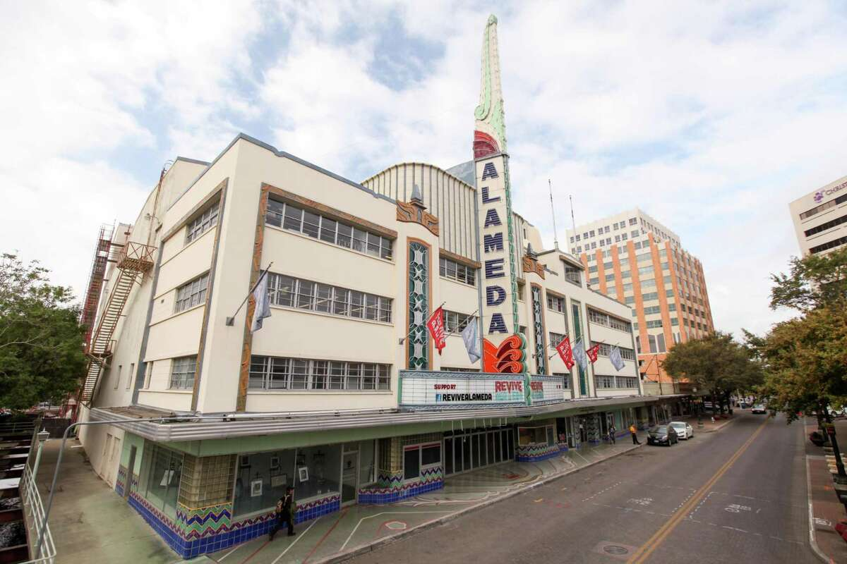 Alan Calvo's mural will span the front of the historic Alameda Theater downtown.