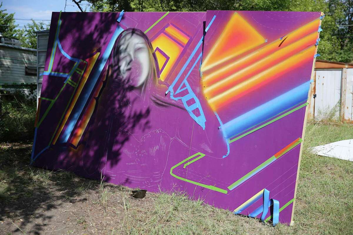 """Part of Alan Calvo's """"Amor Eterno"""" mural for the Alameda Theater will feature young Tejano singer Isabel Marie Sanchez."""