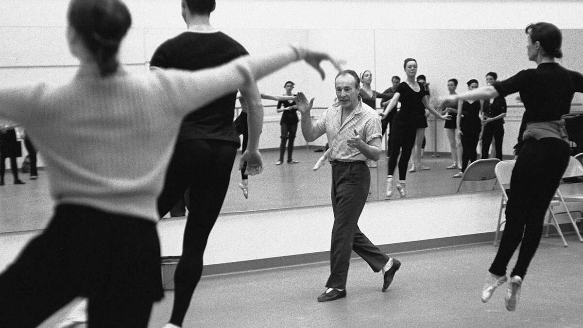 """Balanchine in the studio, as seen in """"In Balanchine's Classroom."""""""