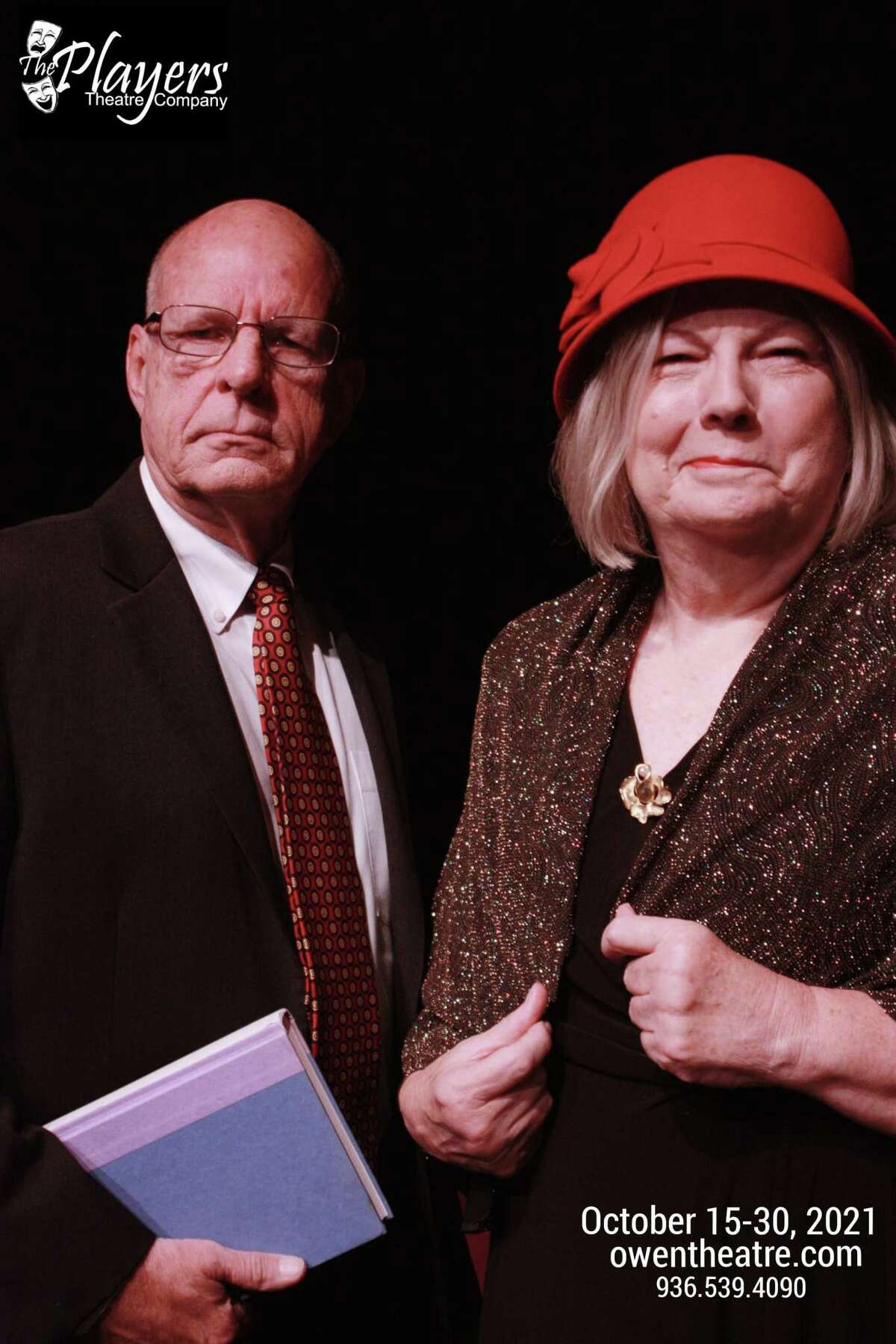 """Mark Wilson as Sir Johnstone Kentley and K. Becky Meredith as Mrs. Debenham in The Players """"Rope"""" opening Oct. 15."""