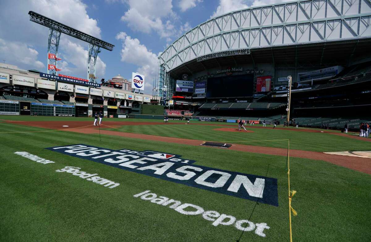 While the Minute Maid Park roof was open for Wednesday's workouts, it will be closed for Games 1 and 2 of the ALDS beginning Thursday.