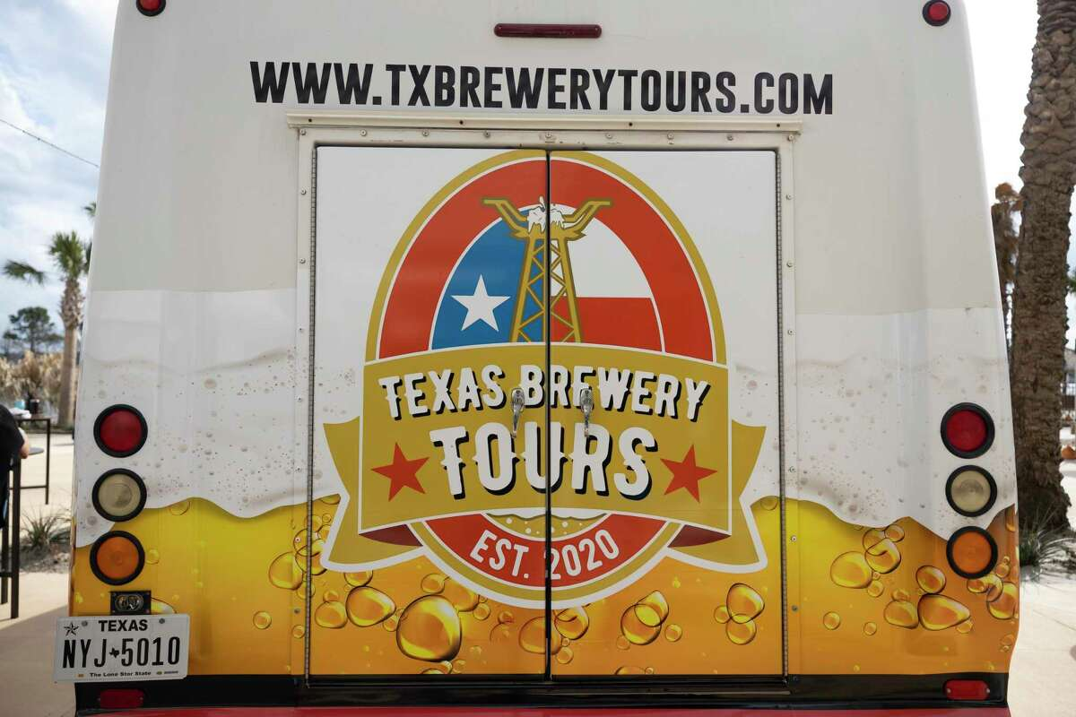 Texas Brewery Tours has a bus at the kick off party for at Margaritaville, Saturday, Feb. 27, 2021, in Lake Conroe. Now they're hosting a special tour for veterans and a special tour for first responders.