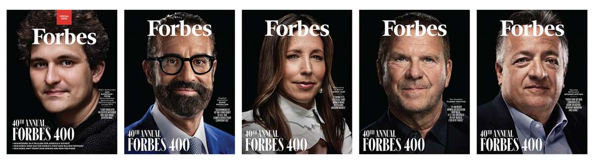 Forbes featured Tilman Fertitta, billionaire hospitality mogul and owner of the Houston Rockets, on the cover of its annual list ranking the nation's richest people.