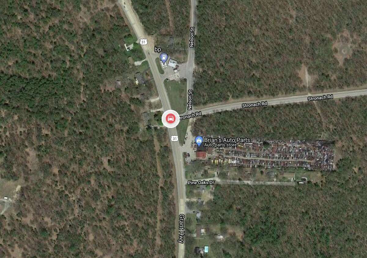 According to a news release from the Manistee County Sheriff's Office Wednesday afternoon, deputies were called to a personal injury crash on Tuesday at the intersection of Nelson Street and Stronach Road in Filer Township. (News Advocate map/Google Maps)