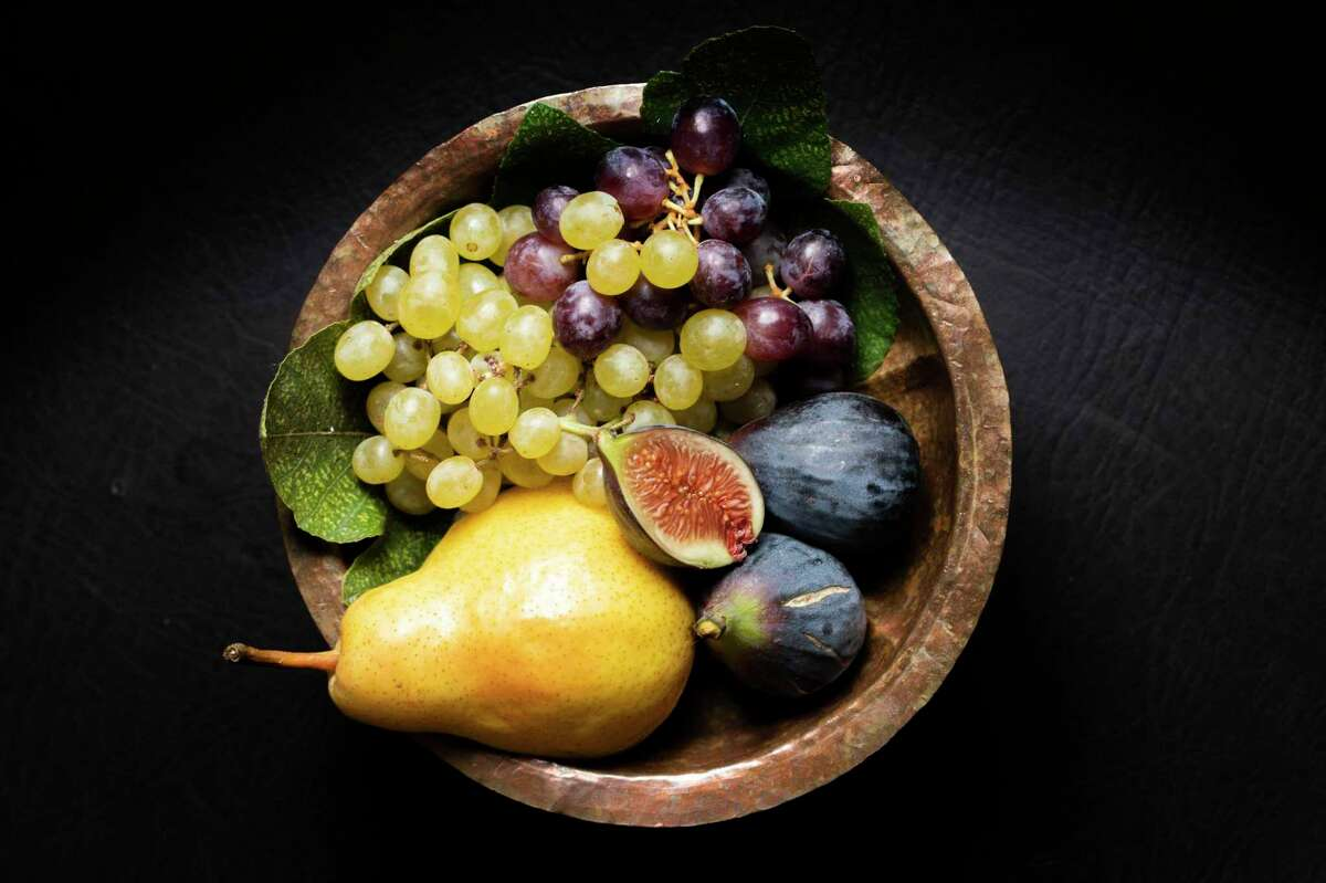 The fruit in a copper bowl at Chez Panisse, Wednesday, Sept. 29, 2021, in Berkeley, Calif.