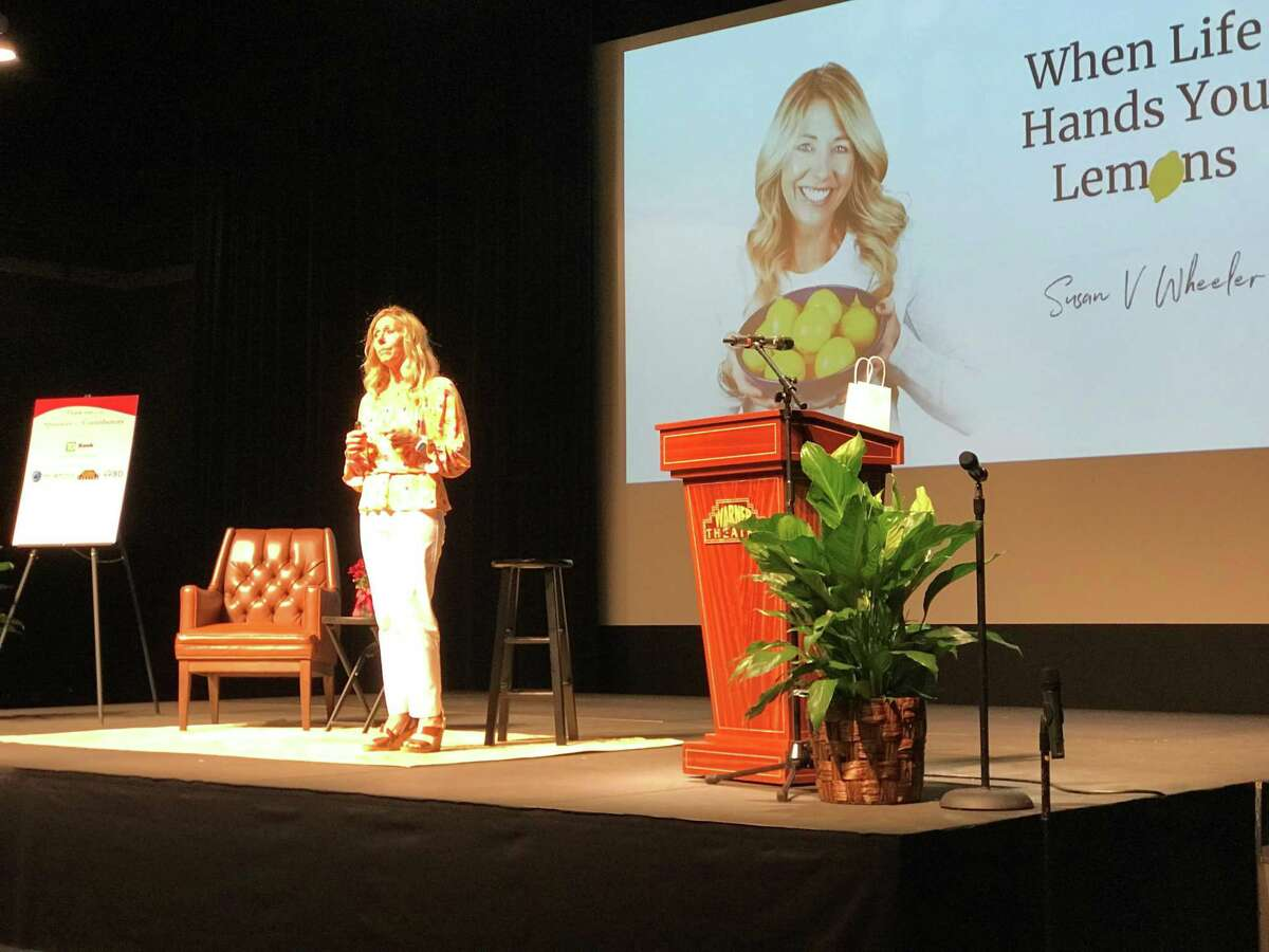Northwest Connecticut's Chamber of Commerce held the 17th annual WOW! Forum Oct. 1 at the Carole & Ray Neag Performing Arts Center at The Warner Theatre. Susan Wheeler was one of the many inspiring speakers at this year's forum.