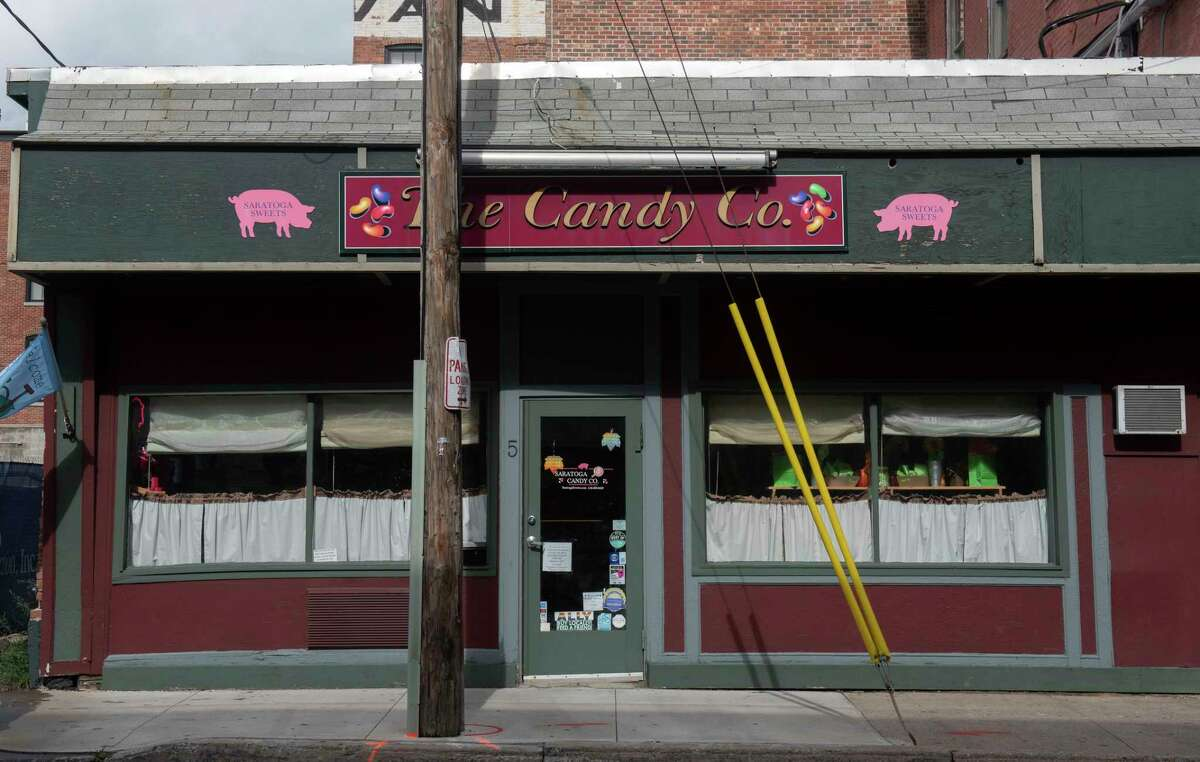 The Saratoga Candy Co is temporarily moving from its location on Washington Street to a storefront on Broadway in Saratoga Springs come November 2021 as the expansion of The Adelphi Hotel moves forward.