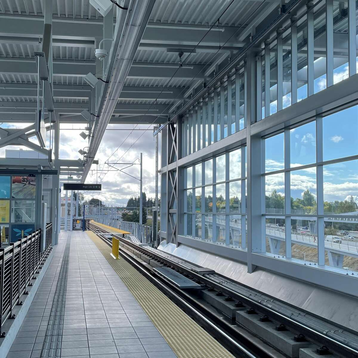 Platform at the new Northgate Station.