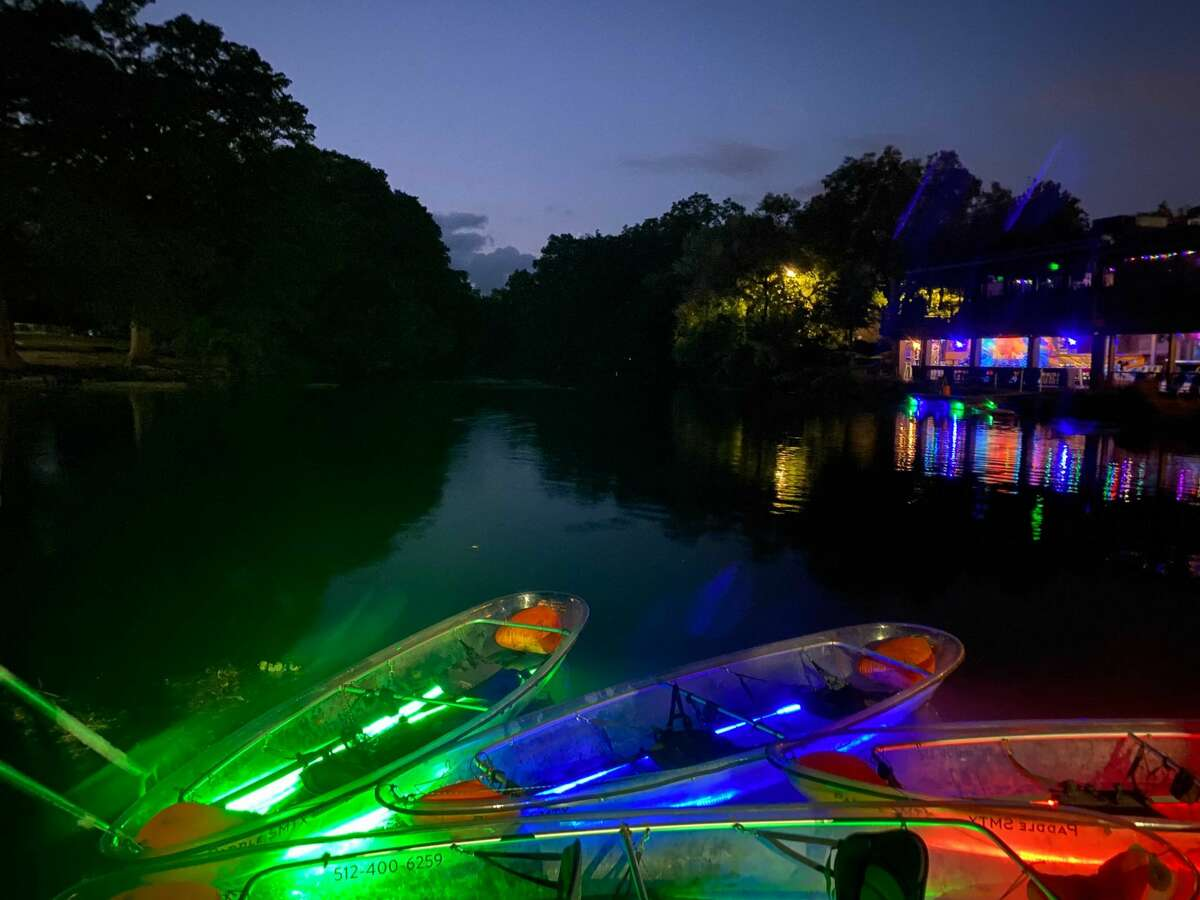 Paddle SMTX offers glow kayaking along the San Marcos River.