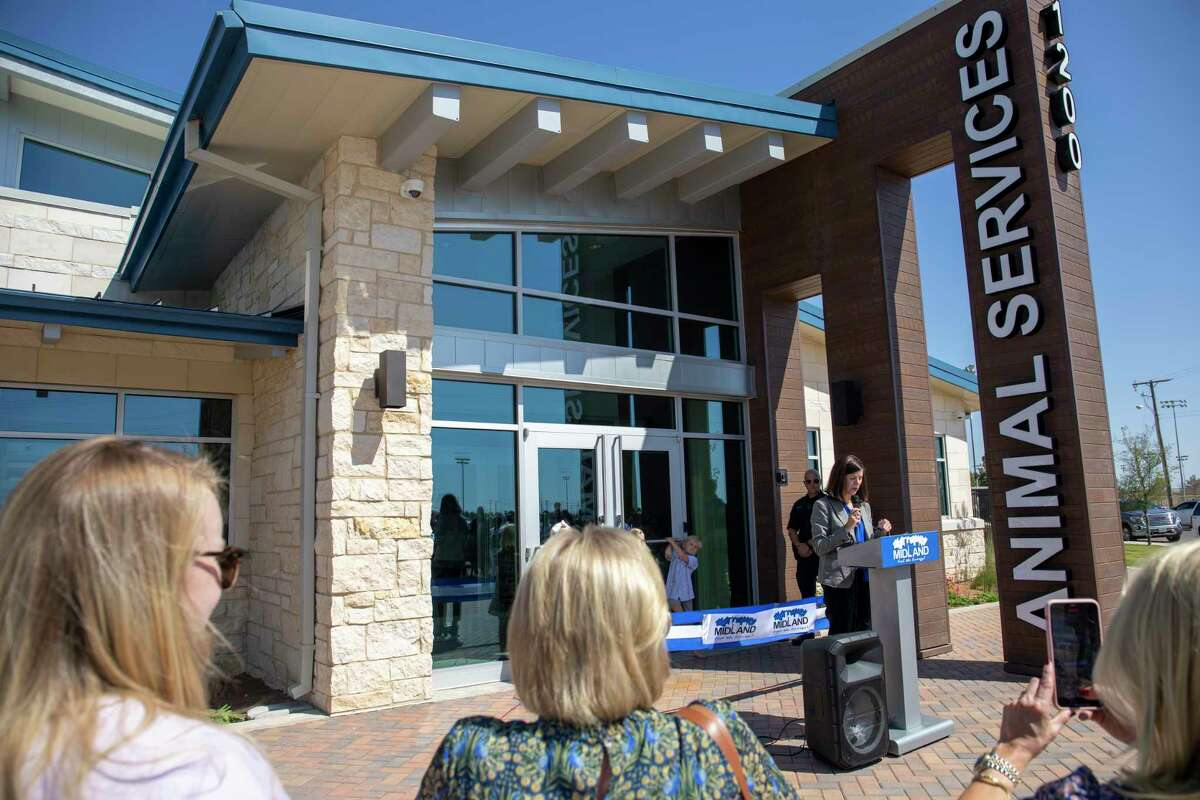 Scenes from the ribbon cutting ceremony and tour of the new Animal Service Facility Wednesday, Oct. 6, 2021 at 1200 N. Fairgrounds Rd. Jacy Lewis/Reporter-Telegram