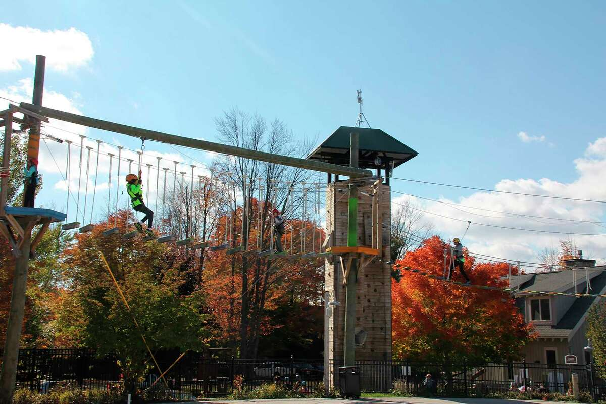 Ziplining at the Edge adventure course is one of many fall activities available at Crystal Mountain Resort and Spa. (Courtesy Photo)
