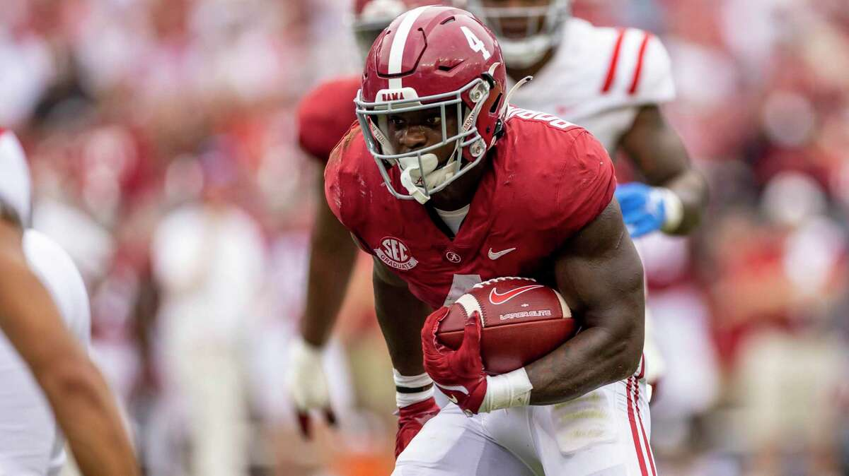 Alabama's Brian Robinson, who had 51 yards rushing as a sophomore in his last visit to Kyle Field in 2019, is coming of career-best 171-yard rushing performance with four touchdowns in the Crimson Tide's 42-21 win over Mississippi last Saturday.