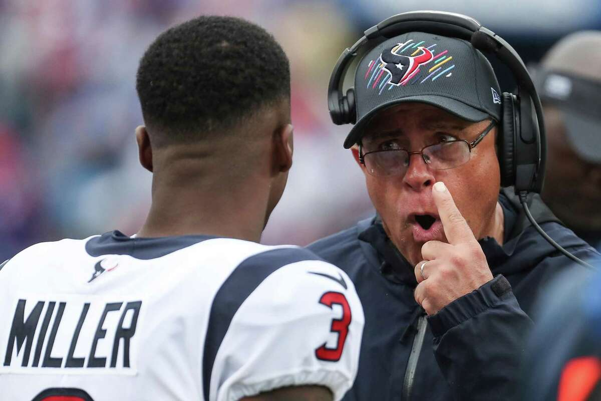 Anthony Miller's game at Buffalo on Sunday turned out to be his last with the Texans and coach David Culley.
