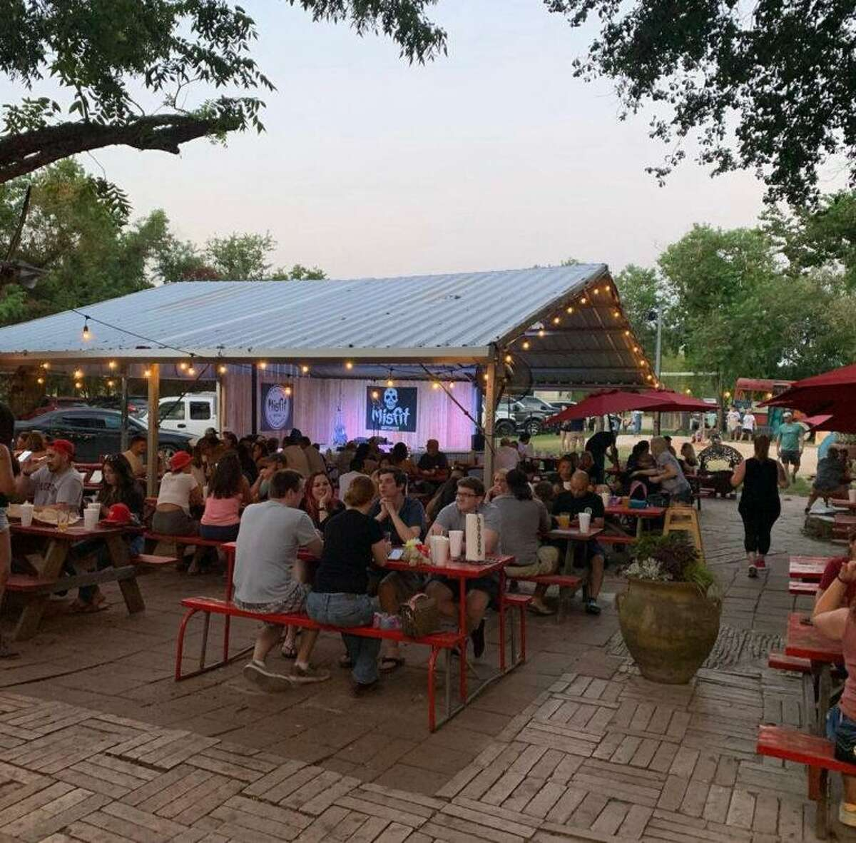 Misfit Outpost, a partnership between Fortress BeerWorks and Misfit Brewing, opened at 16602 Cypress Rosehill Road in Cypress. The site was previously occupied by the Shack Burger Resort.