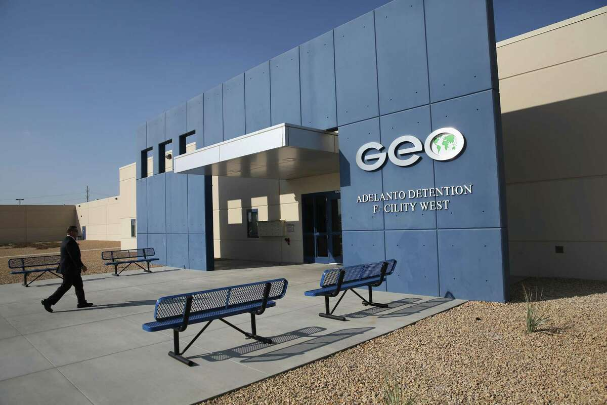 U.S. Immigration and Customs Enforcement doesn't run its own prisons in California, so contractors like GEO operate detention centers for immigrants like the one in Adelanto (San Bernardino County). Now an appeals court has ruled that the state law banning private prisons doesn't apply to those for immigrants.