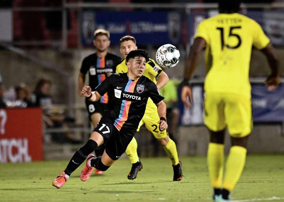 New Mexico United plays San Antonio FC during a USL Championship soccer match, Saturday, Sept. 25, 2021, at Toyota Field in San Antonio, Texas. (Darren Abate/USL Championship)