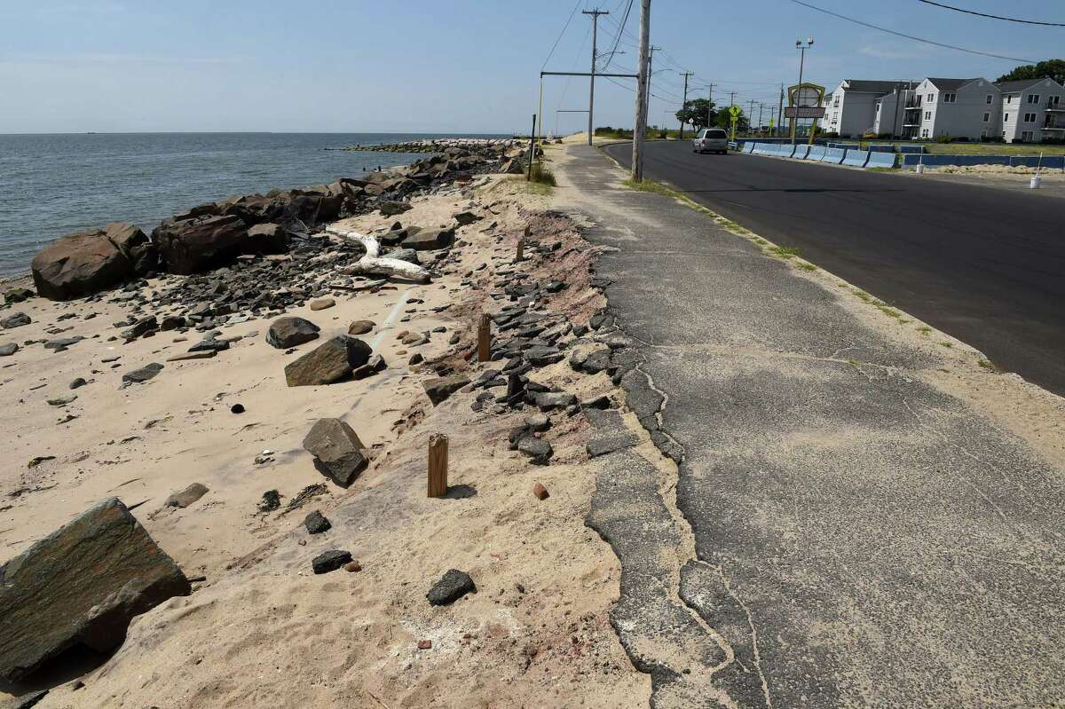 Beach Street in front of the former Chick's Drive-In in West Haven August 2021.