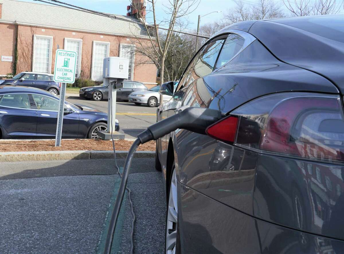 Electric car chargers is just one of the many investments the town could make to become more sustainable with the use of ARPA funds, Chris Schipper said.