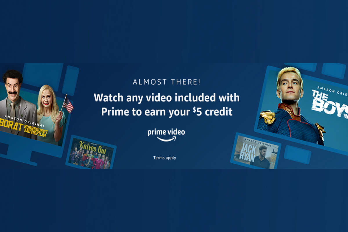 How to get a $5 credit from watching anything on Amazon Prime Video