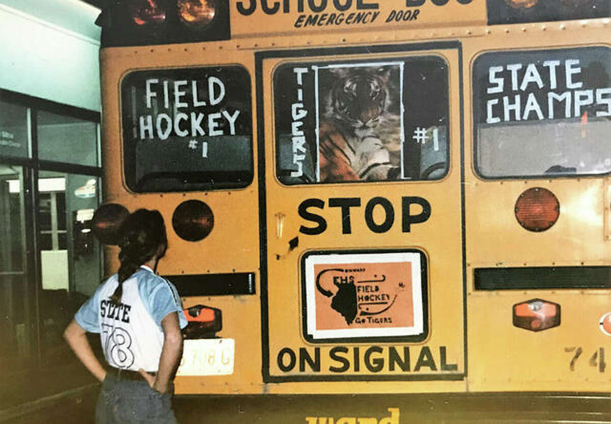 The 1978 Edwardsville field hockey team was welcomed home with a parade after the Tigers won the first state championship in school history.