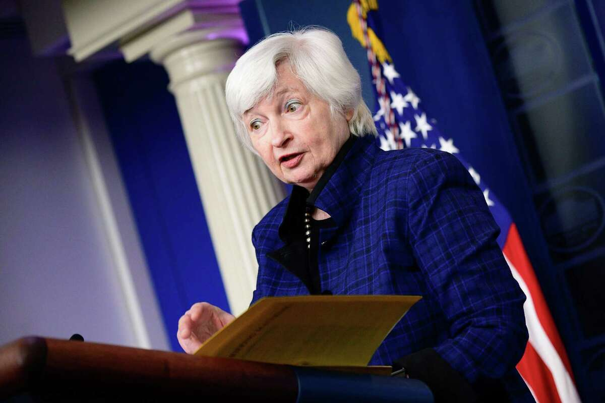 A reader laments our country's debt and an unwillingness to manage it. Here, Treasury Secretary Janet Yellen speaks to reporters at the White House in May, warning about breaching the debt limit.