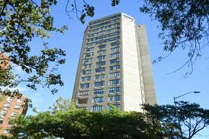 The Towers at 18 Tower Lane in New Haven, Conn. on Wednesday, October 6, 2021.