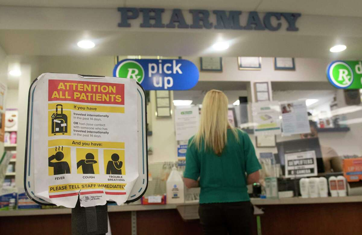 Pharmacy drop off and pick up area in Marra's Pharmacy on Thursday, Oct, 7, 2021 in Cohoes, N.Y.