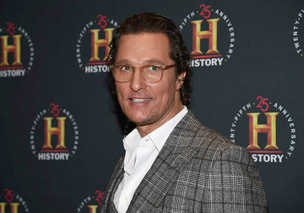 """FILE - In this Feb. 29, 2020, file photo, Matthew McConaughey attends A+E Network's """"HISTORYTalks: Leadership and Legacy"""" in New York. McConaughey has gone from advertising for driving to selling people on staying home. The Academy Award winner whose commercials for Lincoln vehicles have been a TV staple for years is the narrator and co-writer of a public service announcement promoting isolation during the coronavirus pandemic.(Photo by Evan Agostini/Invision/AP, File)"""