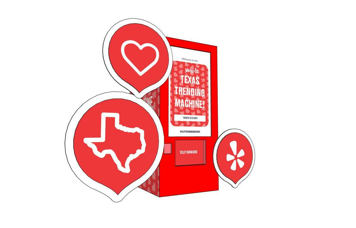"""Yelp will be bringing """"trending"""" vending machines to San Antonio starting Friday to give away popular items the trend online in Texas."""