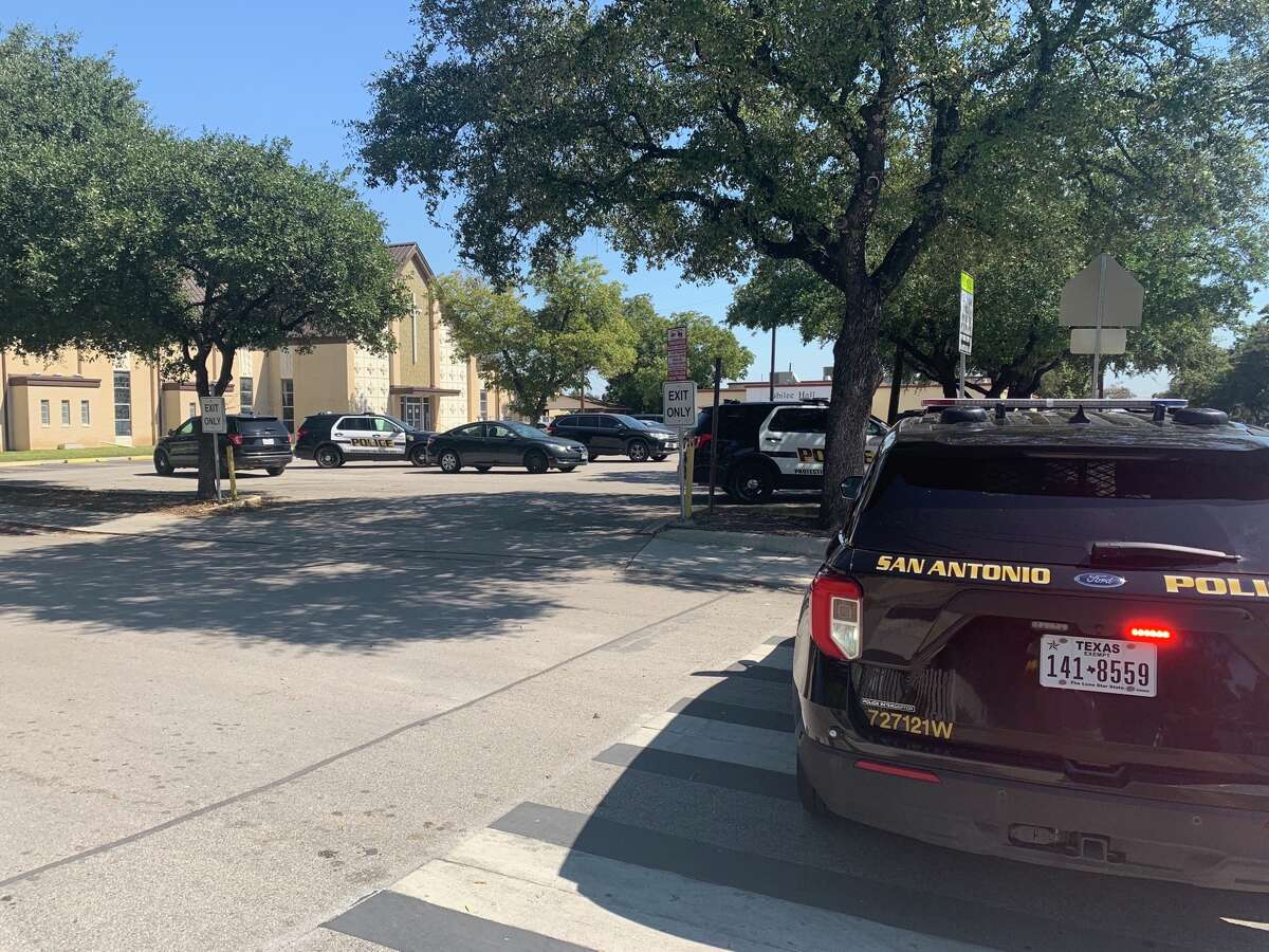 A Roman Catholic school on the West Side went into lockdown after a man threatened to bring a gun inside an adjoining church if we was not allowed inside to pray, San Antonio police said. A Roman Catholic school on the West Side went into lockdown after a man threatened to bring a gun inside an adjoining church if we was not allowed inside to pray, San Antonio police said.