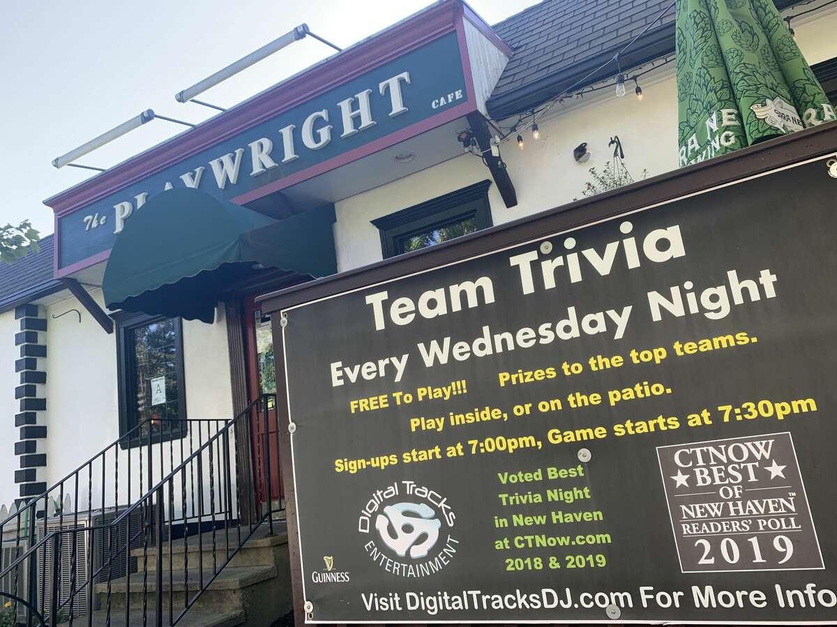The Playwright Irish Pub in Hamden, Conn. hosts trivia every week on Wednesday nights.