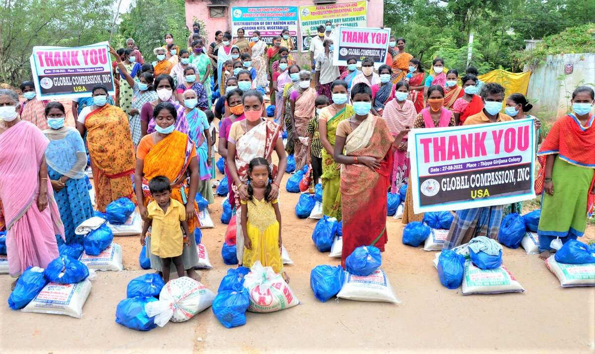 Global Compassion, Inc., founded by Midlanders Ed and Indira Oskvarek, provides food relief to families in northern India.