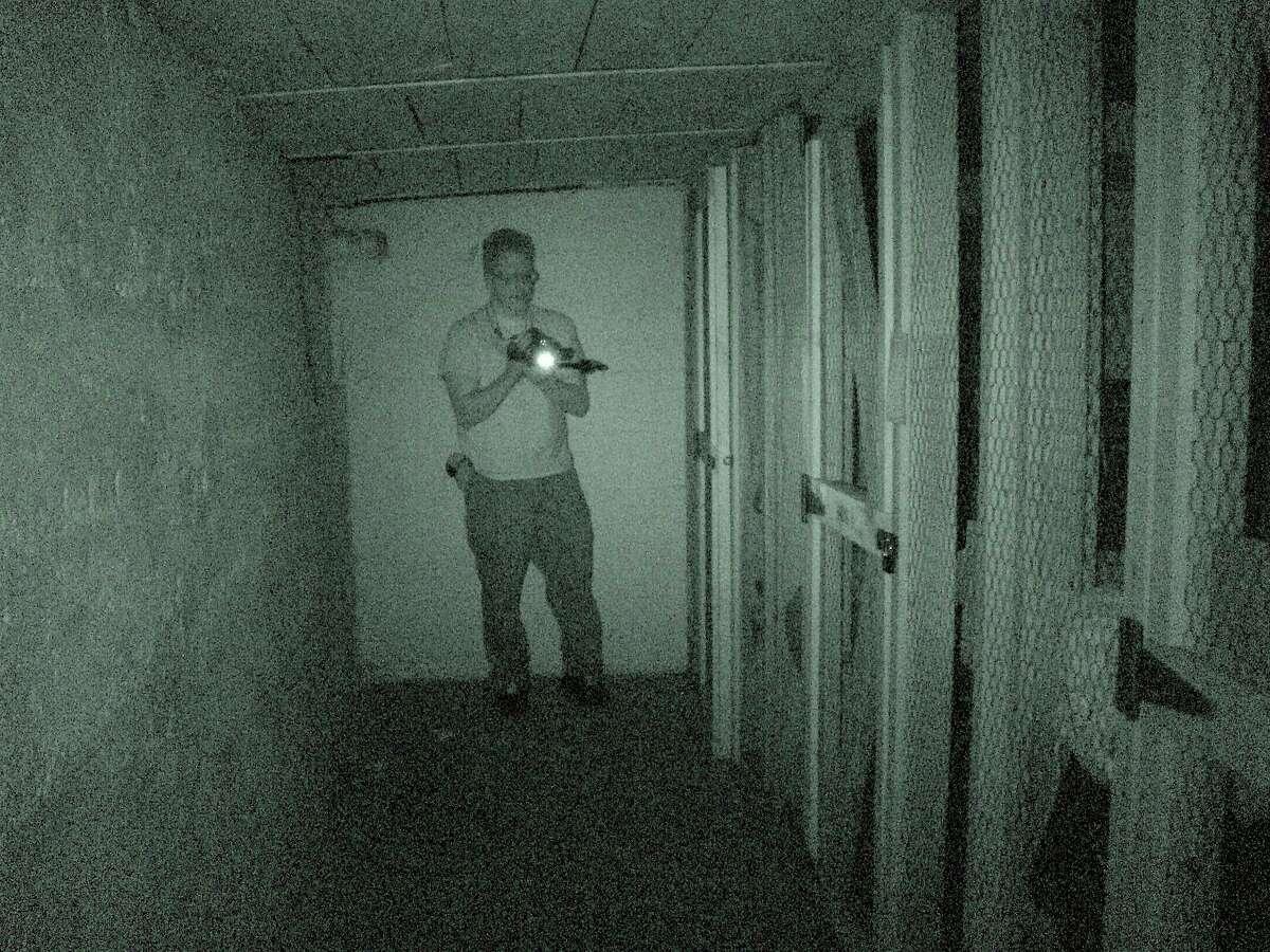 Daniel Mackin and theMichigan Paranormal Investigative Team exploredFerris State University's Alumni Building for paranormal activity. (Courtesy/Michigan Paranormal Investigative Team)