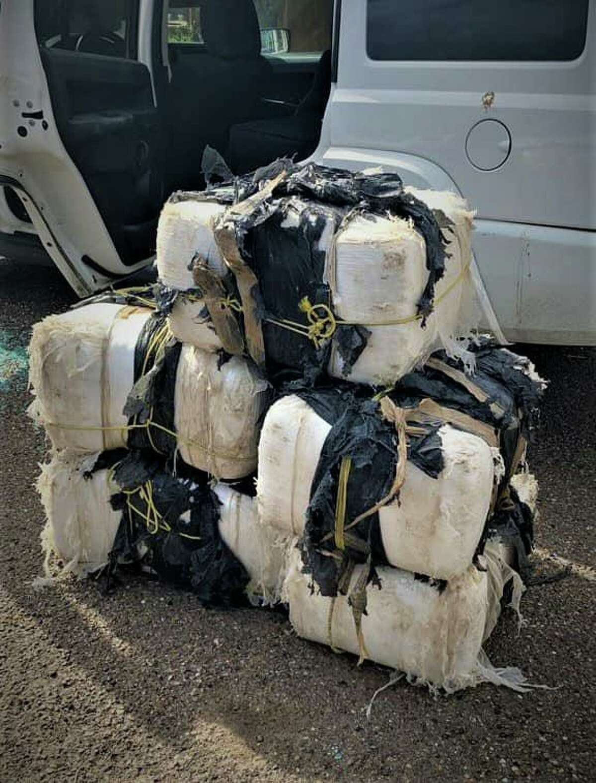 U.S. Border Patrol agents said they seized nearly 400 pounds of marijuana in north Laredo. The contraband had an estimated street value of $132,400.