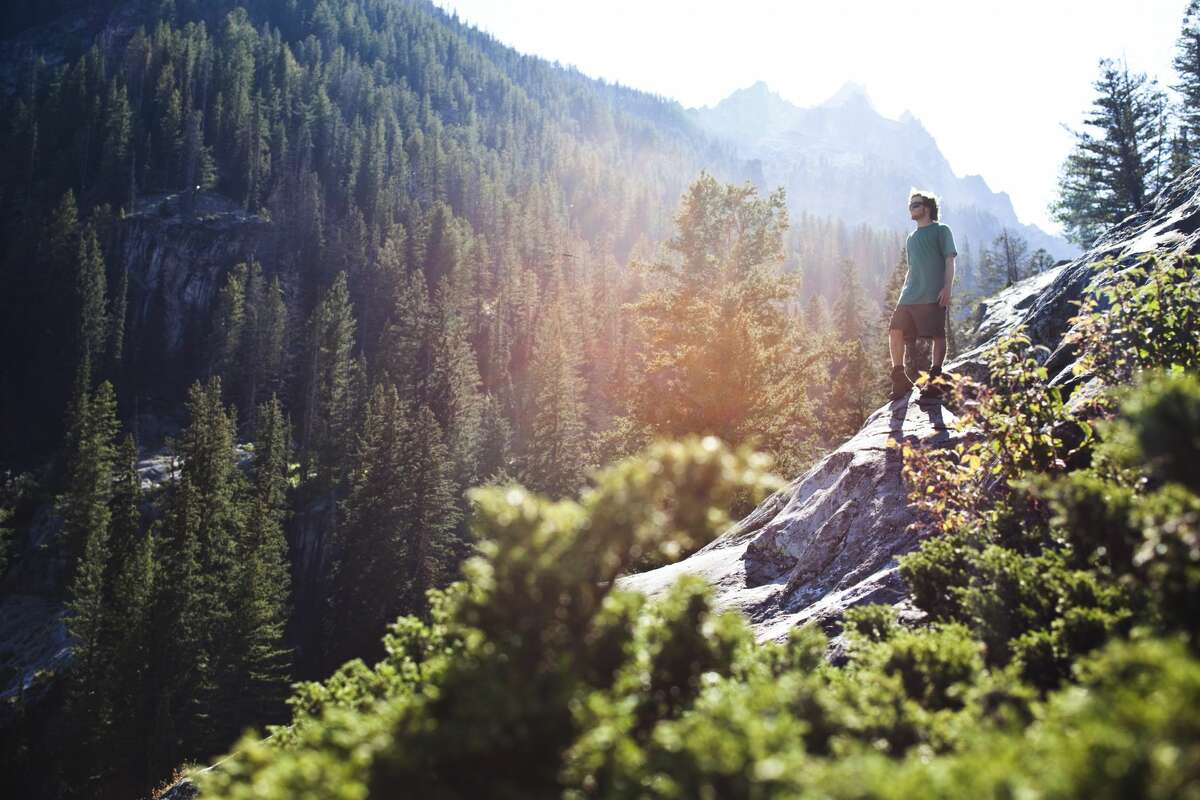 A mountain hike in Wyoming