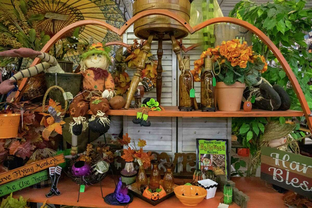 Halloween decor available at the Texas Size Garage Sale as seen Wednesday, Oct. 6, 2021 at 407 E. Scharbauer Drive. Jacy Lewis/Reporter-Telegram