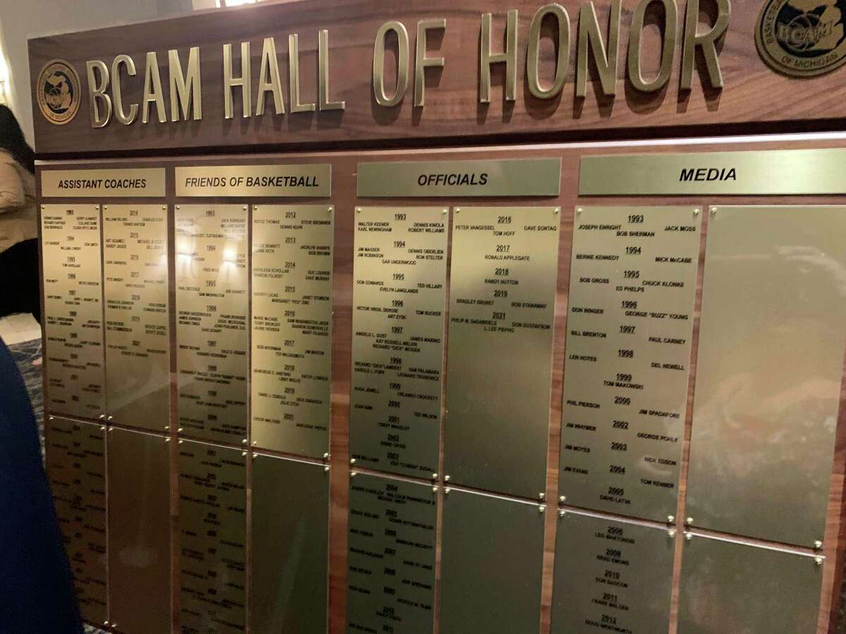 Pioneer sports director John Raffel's name was added to theBasketball Coaches Association of Michigan Hall of Honor.(Courtesy photo)