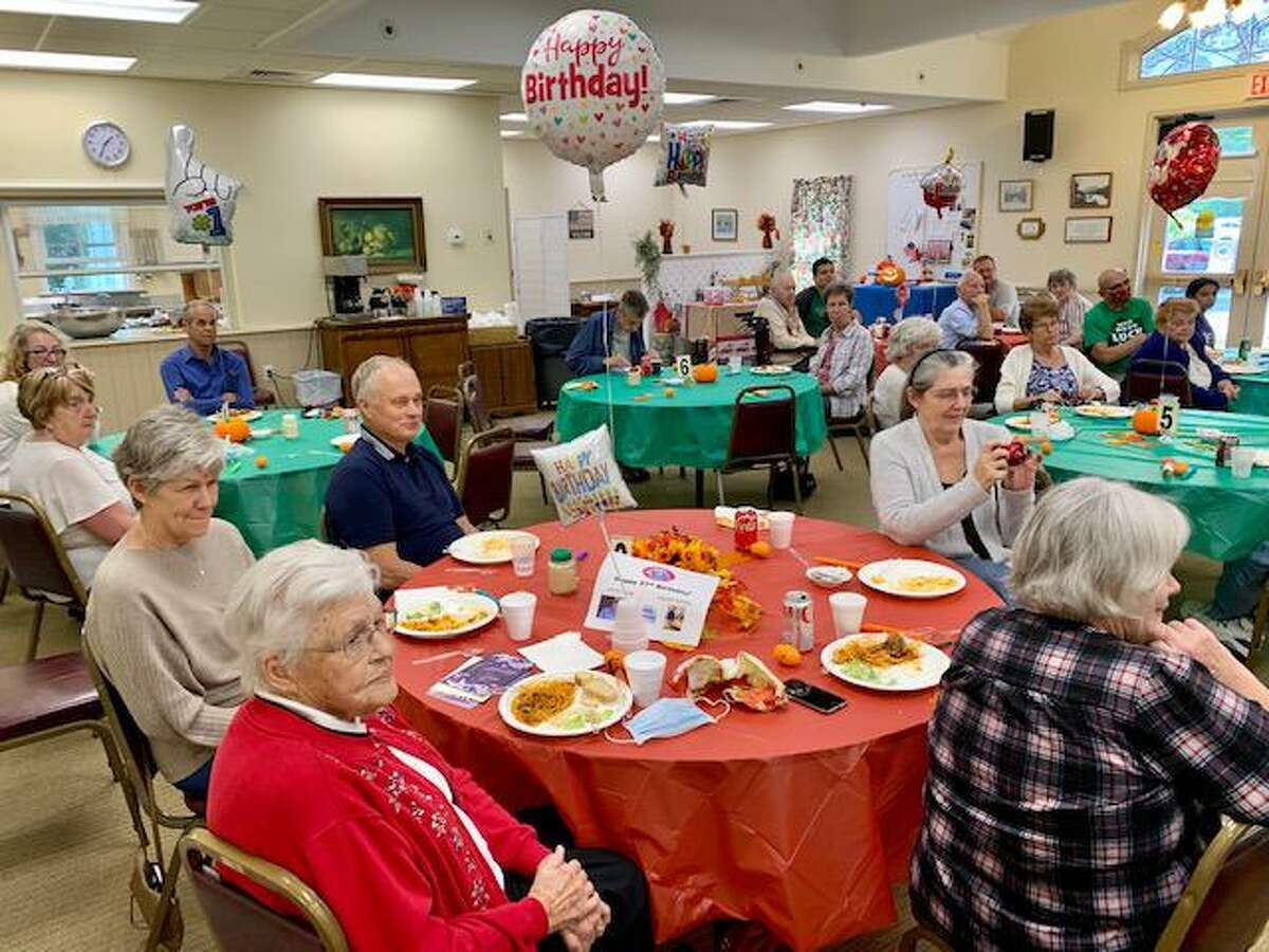 Lifelong Barkhamsted resident Doug Roberts and Winsted resident Shirley Moore were both feted with a joint birthday party celebration at the Barkhamsted Senior Center hosted by Lorraine Paul and Dave Roberts.